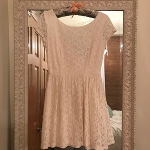 Floral off white dress